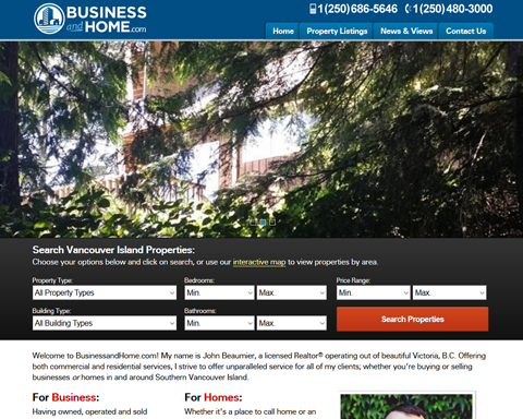 BusinessandHome.com Screenshot