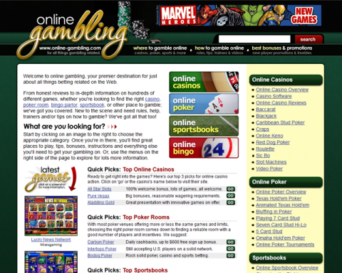 Online-Gambling.com Screenshot